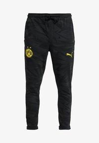 Puma - BVB BORUSSIA DORTMUND CASUALS PANTS - Pantalones deportivos - phantom black - 4