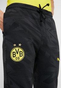 Puma - BVB BORUSSIA DORTMUND CASUALS PANTS - Pantalones deportivos - phantom black - 3