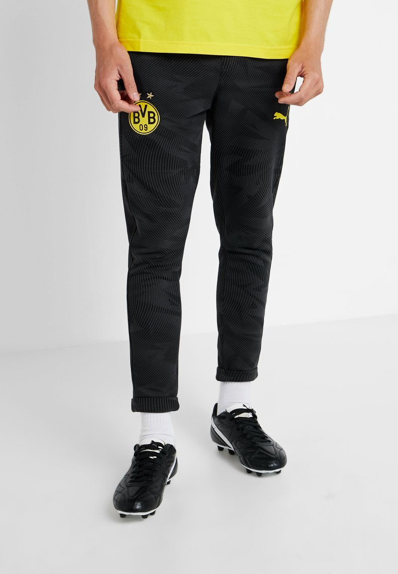Puma - BVB BORUSSIA DORTMUND CASUALS PANTS - Pantalones deportivos - phantom black