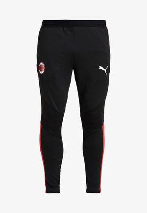 AC MAILAND 1899 TRAINING PANTS PRO WITH ZIPPED POCKETS - Tights - black/tango red