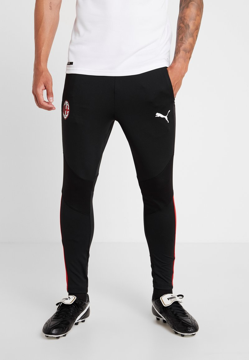 Puma - AC MAILAND 1899 TRAINING PANTS PRO WITH ZIPPED POCKETS - Tights - black/tango red
