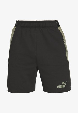 CASUALS SHORTS - Pantaloncini sportivi - black/deep lichen green