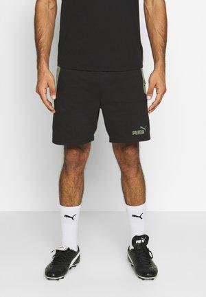 CASUALS SHORTS - Pantalón corto de deporte - black/deep lichen green