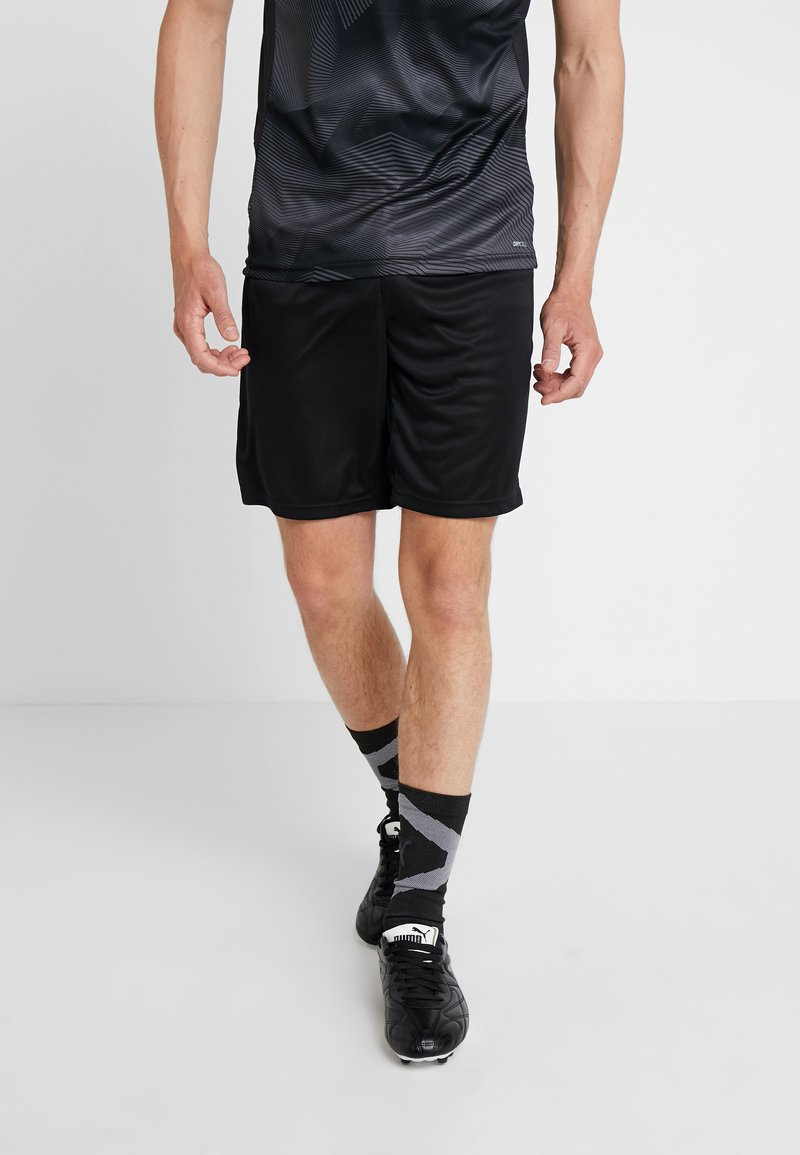 Puma - GRAPHIC SHORTS - Träningsshorts - black/energry/red