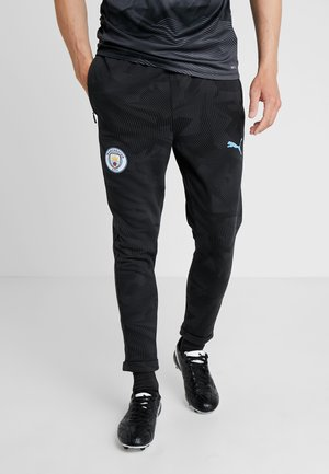 MANCHESTER CITY CASUALS PANTS - Klubbkläder - black/light blue