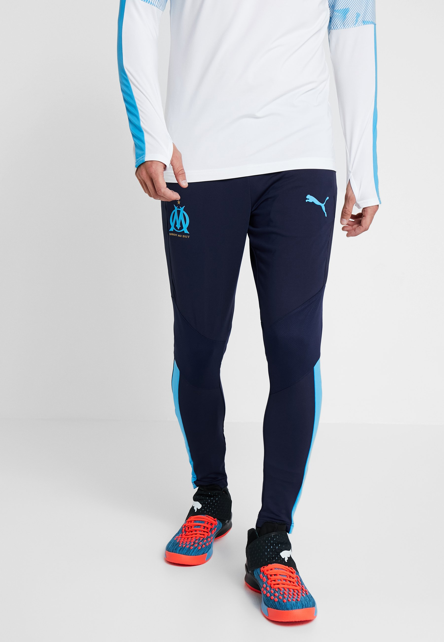 PocketsArticle Zipped De Peacoat Supporter Training Pants Marsaille Puma With Olympique Pro Nn0OwZkPX8