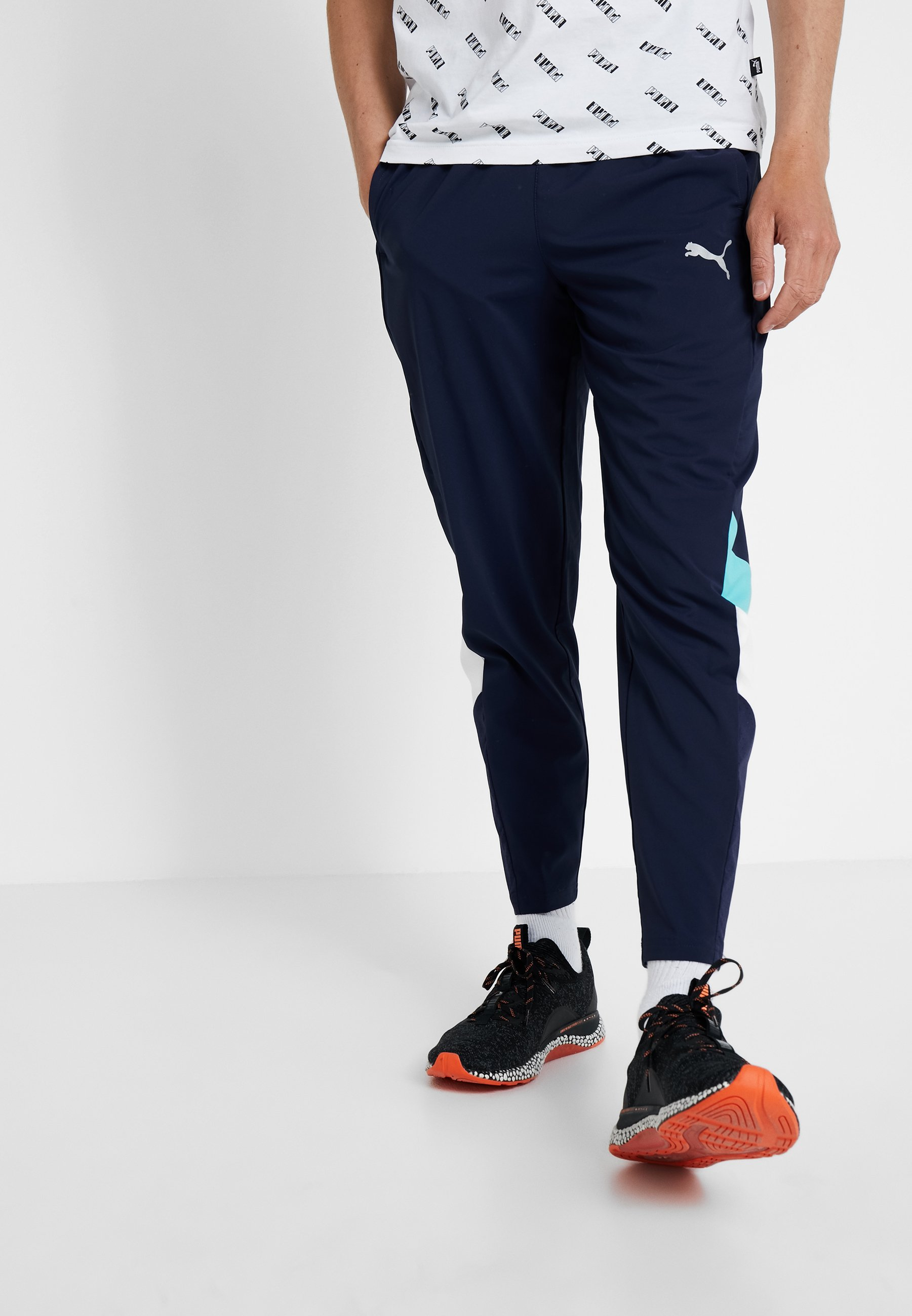 Reactive Puma Packable Peacoat PantPantalon white Survêtement De Blue turquoise mN80nwvO