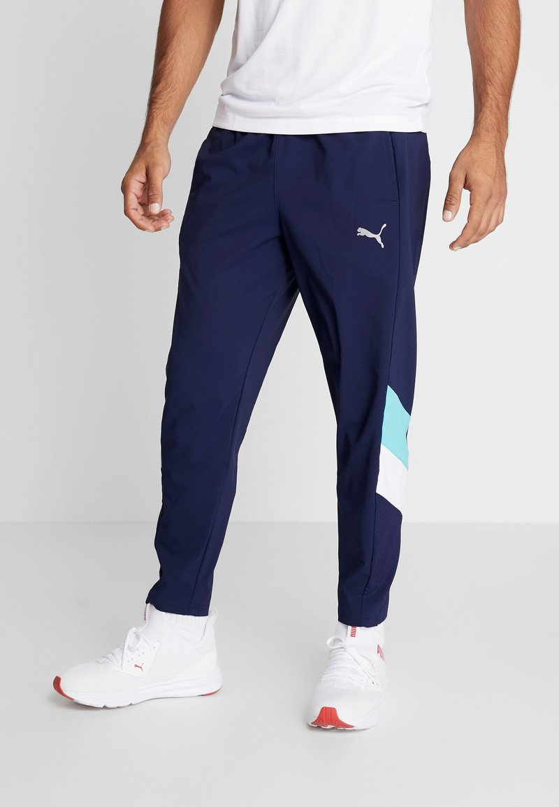 Puma - REACTIVE PACKABLE PANT - Pantalones montañeros largos - peacoat blue/turquoise/white