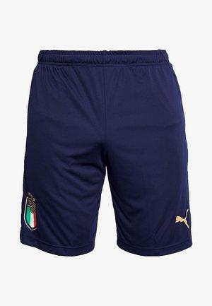 ITALIEN FIGC TRAINING SHORTS - Pantalón corto de deporte - peacoat/gold