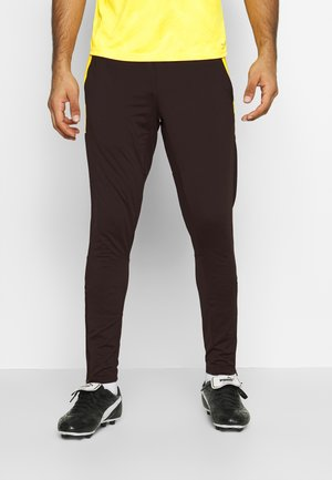 PANT - Tracksuit bottoms - black/ultra yellow