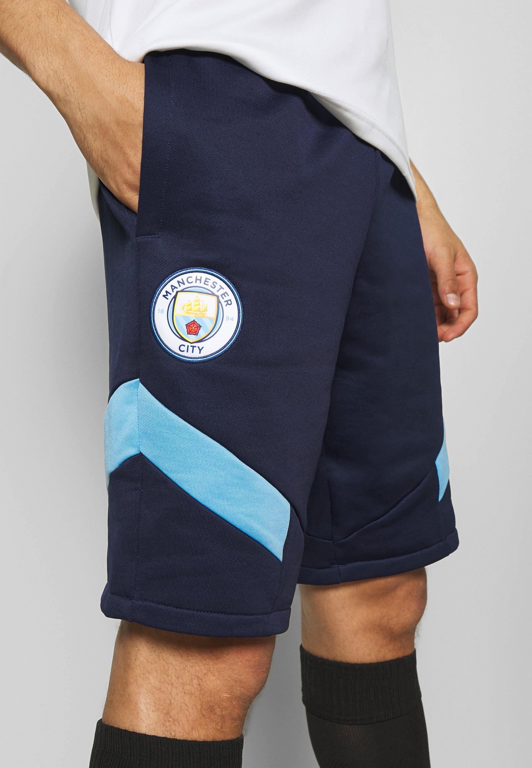 Puma Manchester City Iconic Shorts - Träningsshorts Peacoat/team Light Blue