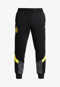 Puma - BVB BORUSIIA DORTMUND ICONIC TRACK - Teplákové kalhoty - puma black/cyber yellow - 4