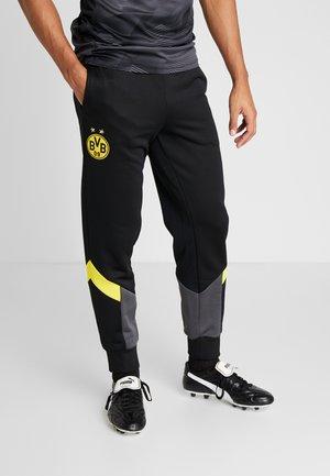BVB BORUSIIA DORTMUND ICONIC TRACK - Pantalones deportivos - puma black/cyber yellow