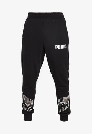 REBEL CAMO PANTS - Träningsbyxor - black