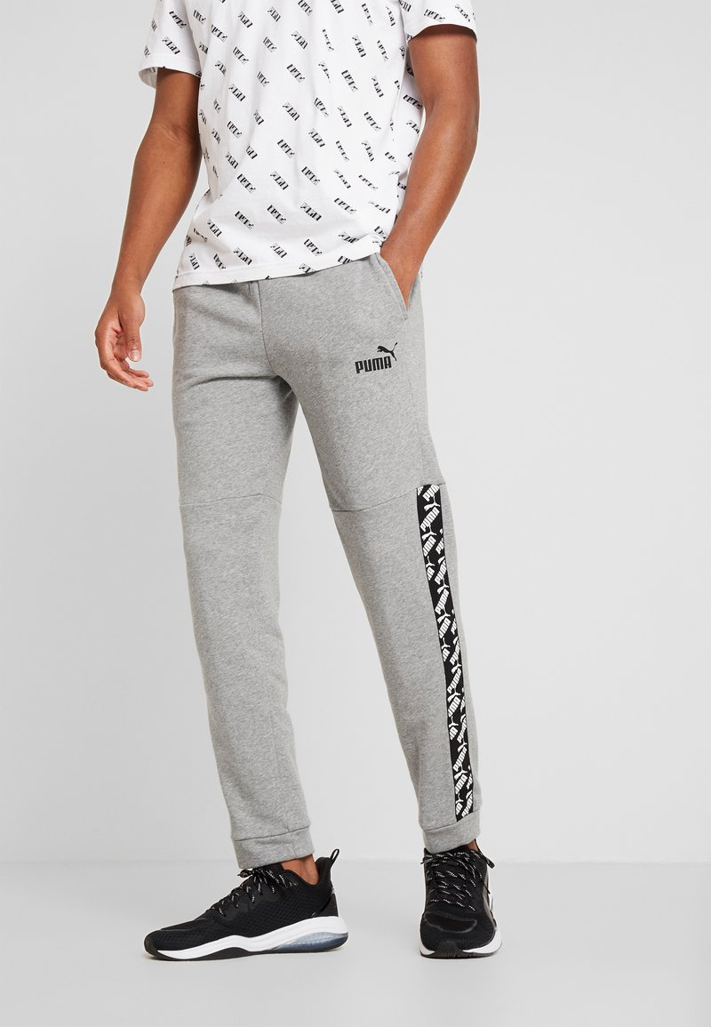 Puma - AMPLIFIED PANTS - Pantalon de survêtement - medium gray heather