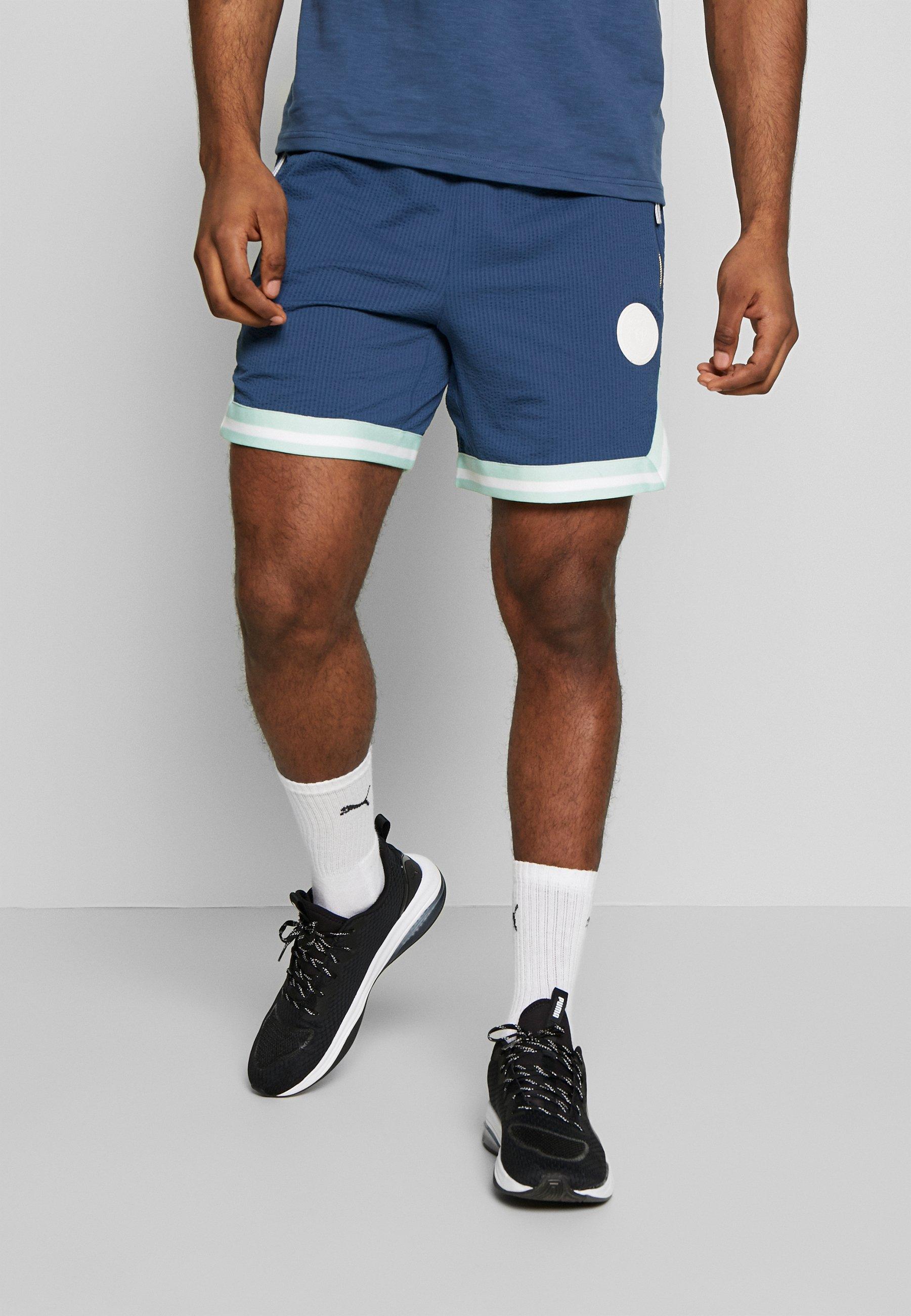 Puma HOOPS SHORT - Pantaloncini sportivi - dark denim