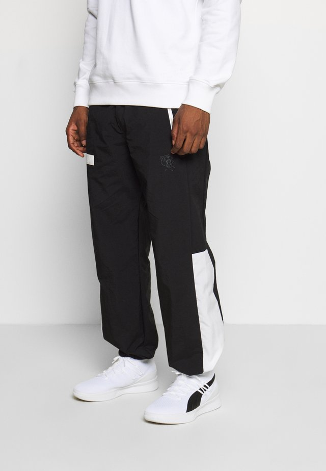 HOOPS WARM UP PANT - Pantaloni sportivi - black/white
