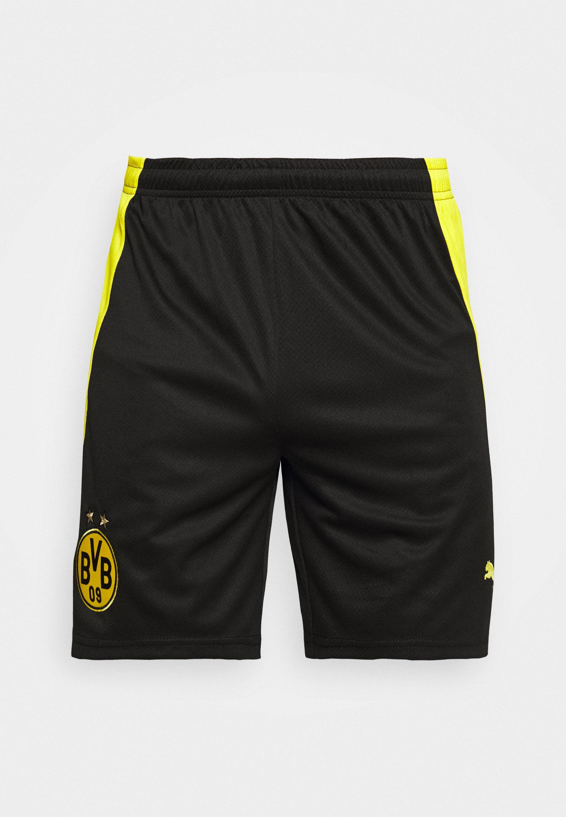 BVB BORUSSIA DORTMUND SHORTS REPLICA kurze Sporthose blackcyber yellow