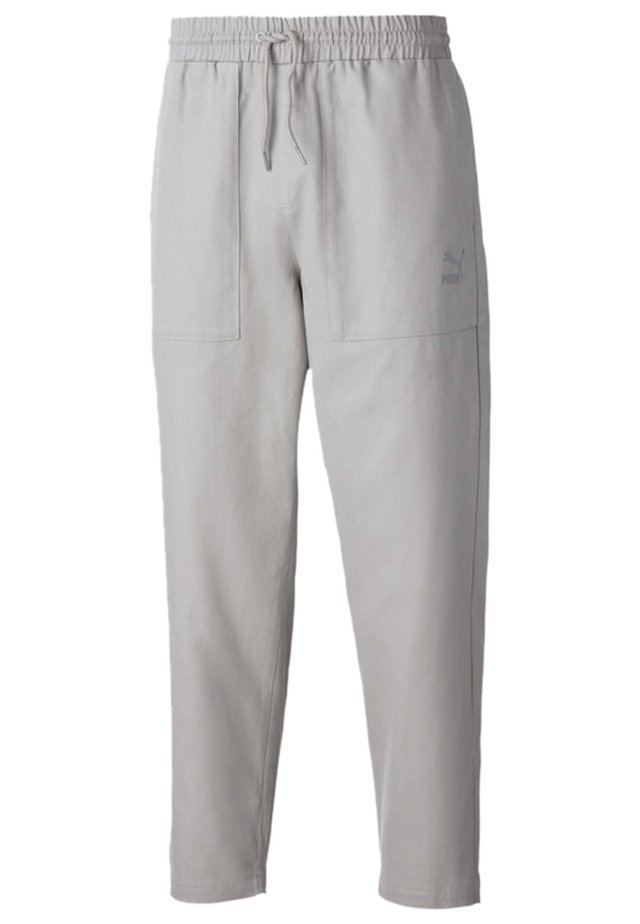 TAPERED WOVEN MEN'S CHINO PANTS MALE - Pantalon de survêtement - flint gray