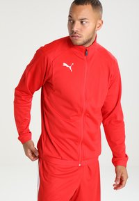 Puma - LIGA TRAINING JACKET - Trainingsvest - red/white - 0