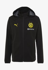 Puma - BVB BORUSSIA DORTMUND RAIN JACKET - Fanartikel - puma black/cyber yellow - 5