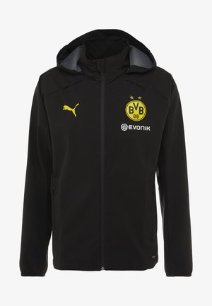 BVB BORUSSIA DORTMUND RAIN JACKET - Klubové oblečení - puma black/cyber yellow
