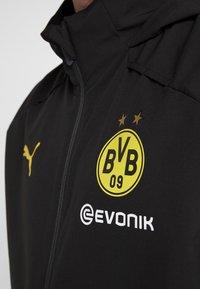 Puma - BVB BORUSSIA DORTMUND RAIN JACKET - Fanartikel - puma black/cyber yellow - 4