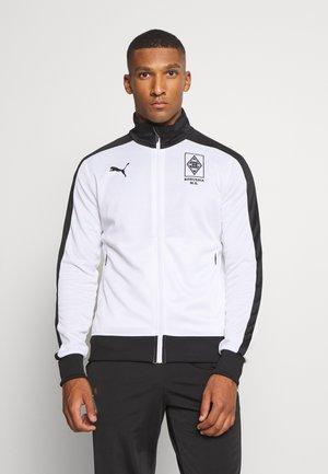 BORUSSIA MÖNCHENGLADBACH TRACK JACKET - Klubbkläder - white/black