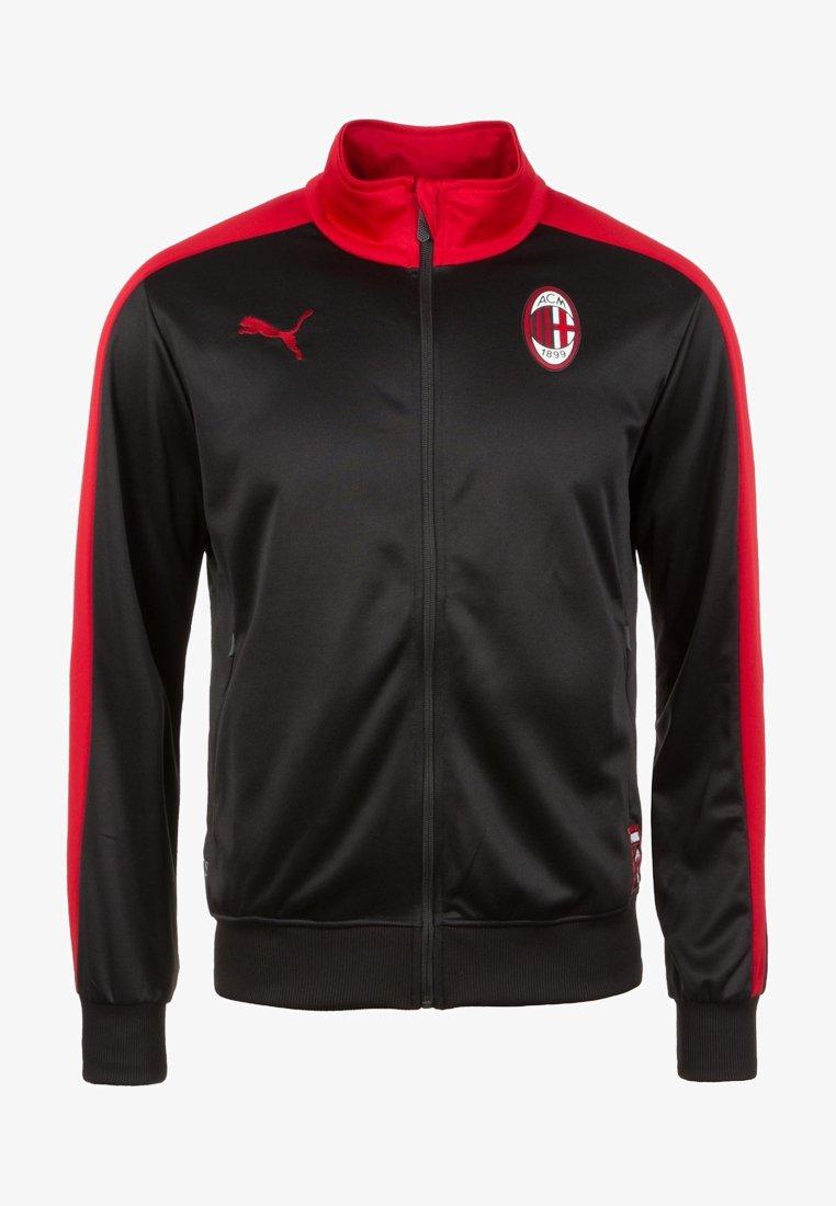 Puma - AC MAILAND T7  - Vereinsmannschaften - black/tango red