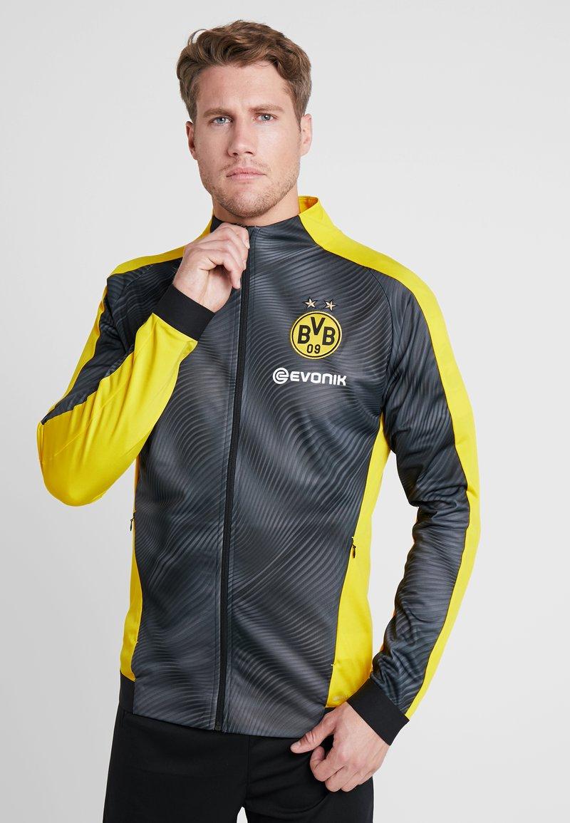 Puma - BVB BORUSSIA DORTMUND LEAGUE STADIUM JACKET WITH EVONIK - Equipación de clubes - neon yellow
