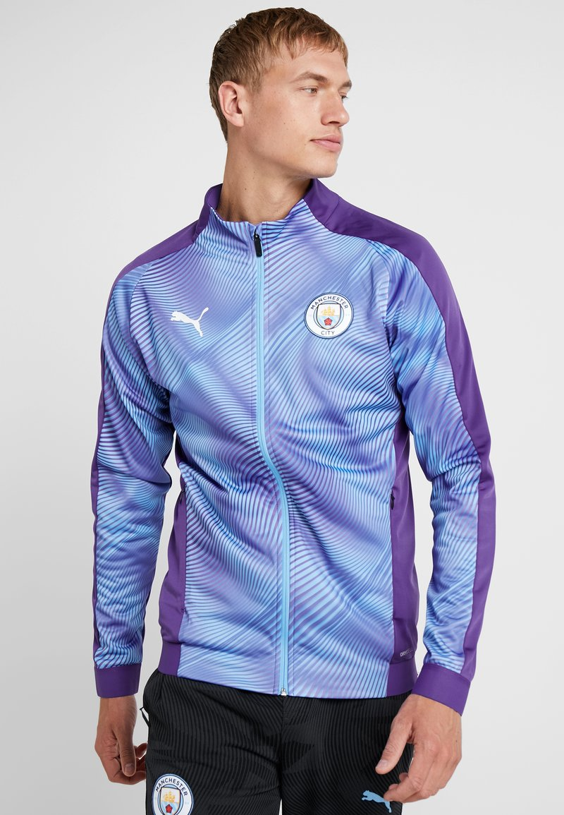 Puma - MANCHESTER CITY STADIUM LEAGUE JACKET  - Klubbkläder - tillandsia purple/light blue