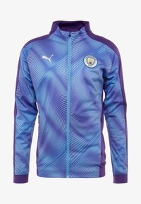 Puma - MANCHESTER CITY STADIUM LEAGUE JACKET  - Klubbkläder - tillandsia purple/light blue - 5