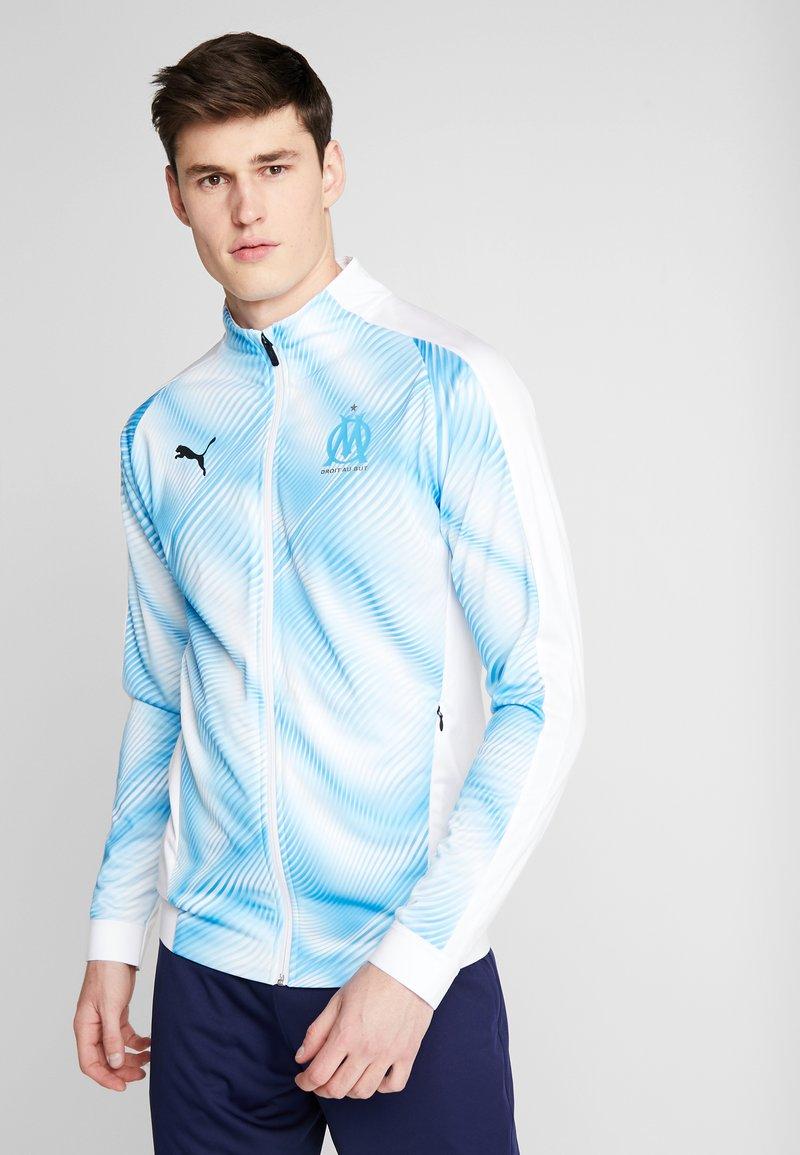 Puma - OLYMPIQUE MARSAILLE STADIUM JACKET DOLYMPIQUE MARSAILLEESTIC LEA - Chaqueta de entrenamiento - puma white/bleu azur