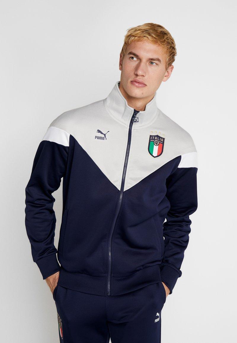 Puma - ITALIEN FIGC ICONIC MCS TRACKJACKET - Trainingsvest - peacoat/grey