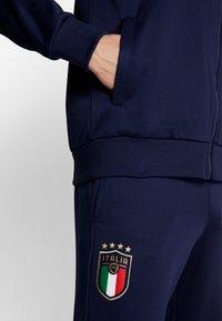 Puma - ITALIEN FIGC ICONIC MCS TRACKJACKET - Trainingsvest - peacoat/grey - 3