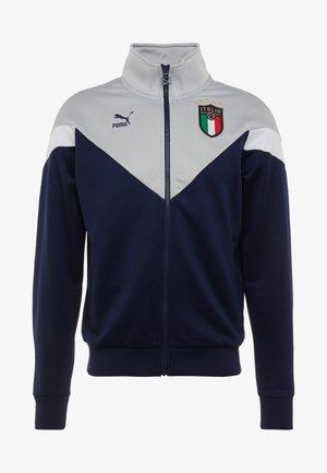 ITALIEN FIGC ICONIC MCS TRACKJACKET - Veste de survêtement - peacoat/grey