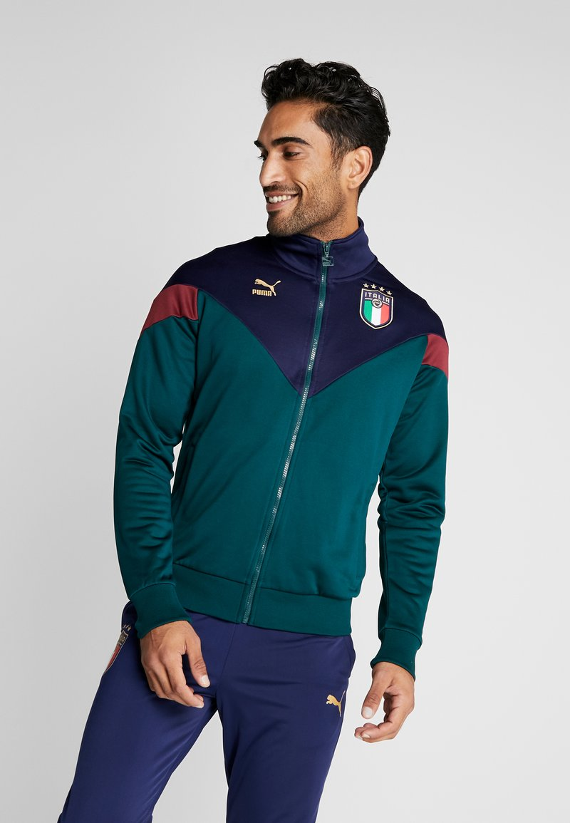 Puma - ITALIEN FIGC ICONIC TRACK - Chaqueta de entrenamiento - ponderosa pine/peacoat