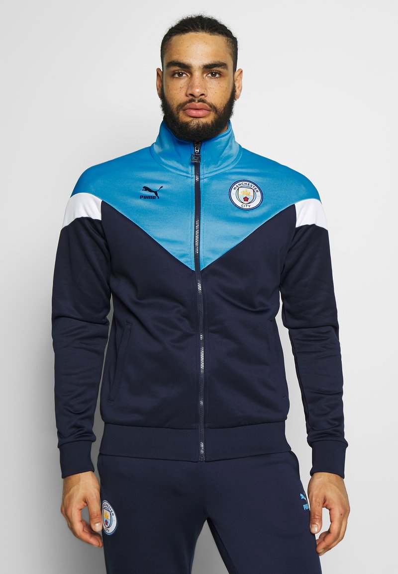 Puma - MANCHESTER CITY ICONIC TRACK  - Trainingsvest - peacoat/team light blue