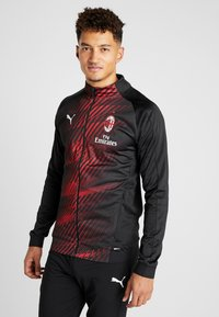 Puma - AC MAILAND STADIUM JACKET SPONSOR - Article de supporter - black/tango red - 0