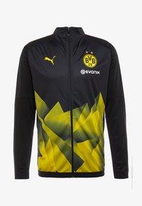 Puma - BVB BORUSIIA DORTMUND STADIUM JACKET WITH EVONIK - Equipación de clubes - black/cyber yellow - 3