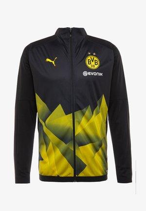 BVB BORUSIIA DORTMUND STADIUM JACKET WITH EVONIK - Equipación de clubes - black/cyber yellow