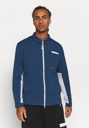 HOOPS SEERSUCKER - Training jacket - dark denim/white