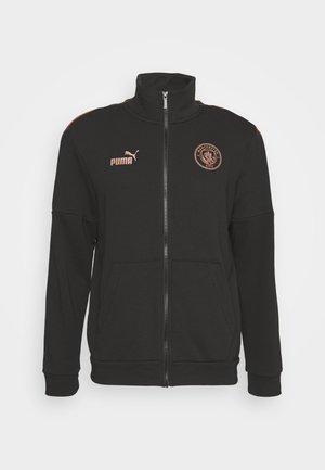 MANCHESTER CITY TRACK JACKET - Training jacket - black/copper