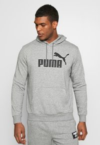 Puma - HOODY BIG LOGO - Sweat à capuche - medium gray heather - 0