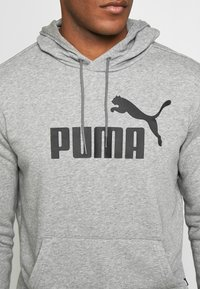 Puma - HOODY BIG LOGO - Sweat à capuche - medium gray heather - 5