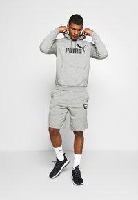 Puma - HOODY BIG LOGO - Sweat à capuche - medium gray heather - 1