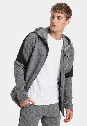 EVOSTRIPE - Hoodie met rits - medium gray heather
