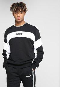 Puma - REBEL CREW - Sweatshirts - black - 0