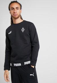 Puma - BORUSSIA MÖNCHENGLADBACH CULTURE SWEATER - Club wear - puma black - 0