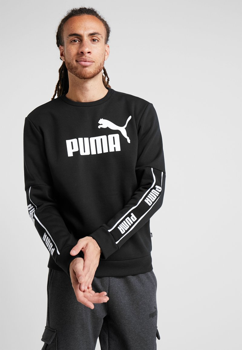Puma - AMPLIFIED CREW - Sweatshirts - puma black